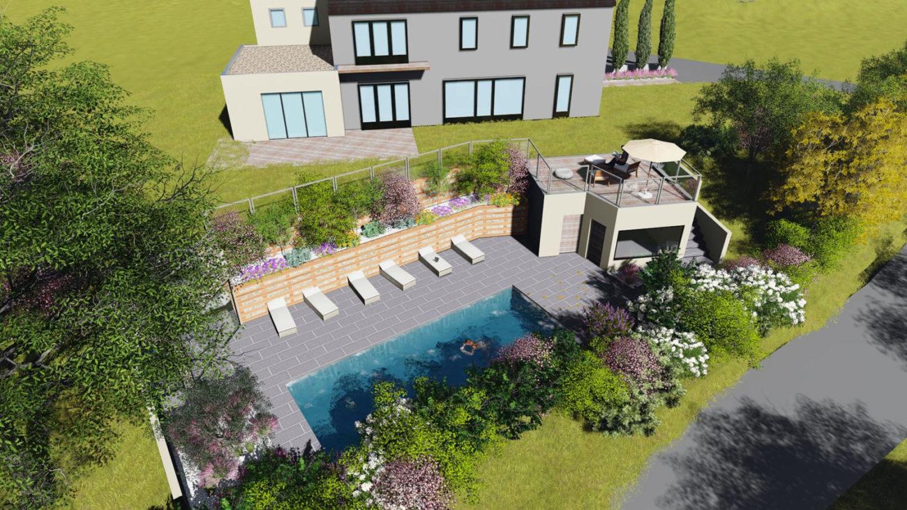 Création piscine et jardin