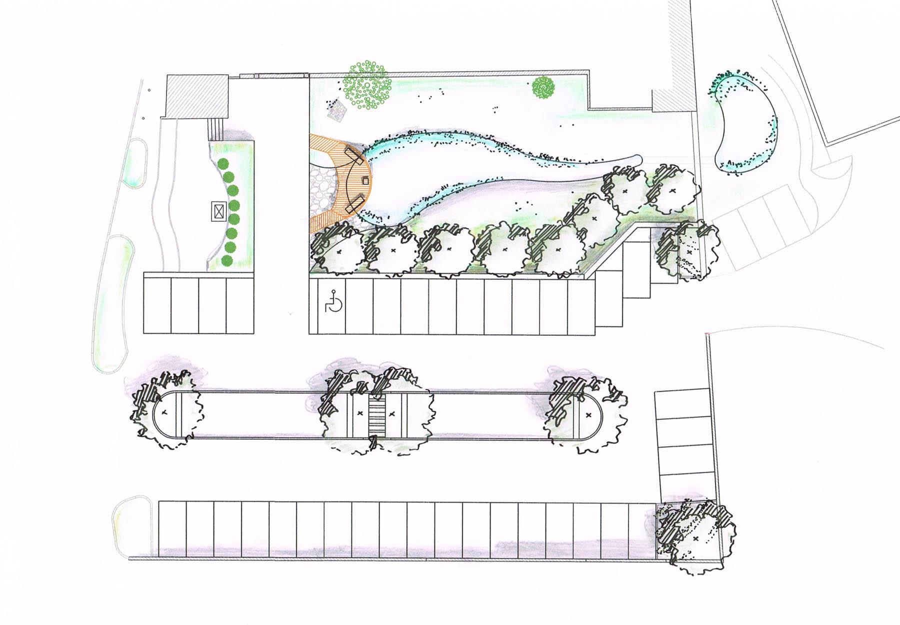 Aménagement du parking central de Saint-Cassin-