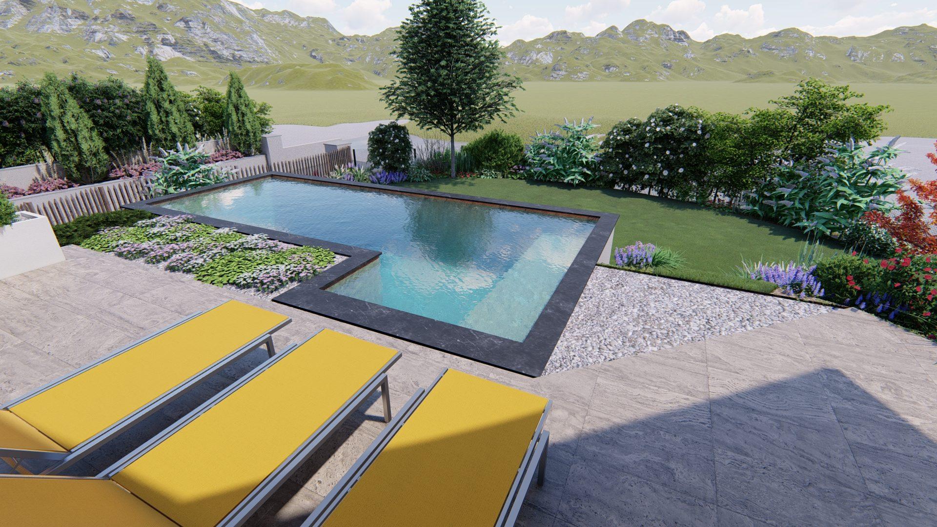 Intégration d'une piscine-
